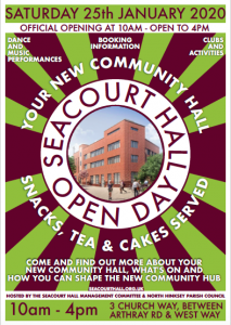 Seacourt Hall Open Day poster