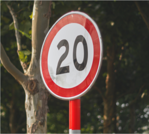 Photo of 20 Mph sign