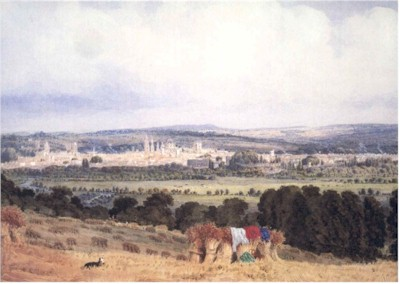 Local View Of Oxford From Hinksey Hill By William Turner Of Oxford